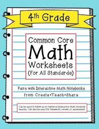 common core math worksheets 4th grade math worksheets common