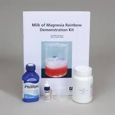 milk of magnesia rainbow demonstration kit carolina com