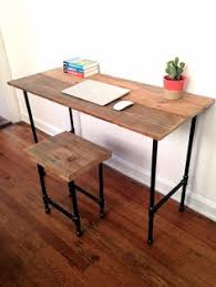 Steel Pipe Desk by Pipe Desk Extra Thick Pipe Reclaimed Wood Desk Industrial Desk