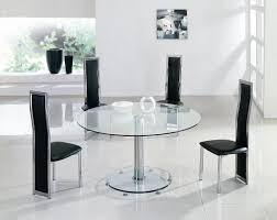 Glass Round Dining Room Table Special Inspiration Modern Dining Sets Round Table Set Decosee