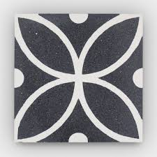 cement tile merida black polished clay imports