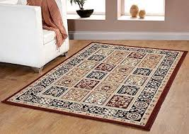 Carpet Area Rug Traditional Oriental Medallion Area Rug Persian Style Carpet Brown
