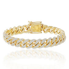 cuban bracelet images 10k yellow gold 10 5ct diamond cuban bracelet shyne jewelers jpg