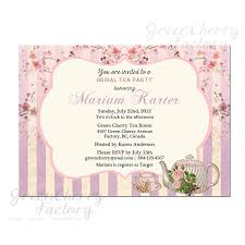 bridal shower tea party invitations baby shower tea party invitations bridal shower invitations