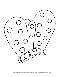 mitten coloring page omeletta me