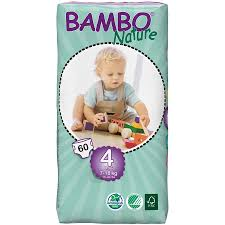maxi size bambo nature disposable nappies maxi size 4 jumbo pack of 60