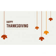 happy thanksgiving hanging leaves vector free