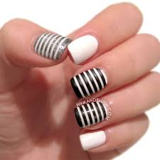 nail art black and white toeil art designs grey waterfall black