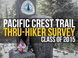 the annual pacific crest trail thru hiker survey 2015 halfway