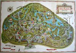 Six Flags New England Map by 1970s Six Flags Over Texas Map This Is How The Park Looked When I