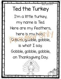 ted the turkey thanksgiving poem by griffin tpt