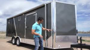 V Nose Enclosed Trailer Cabinets by 8 5 X 25 All Season Enclosed Cargo Carhauler Trailer Furnace A C