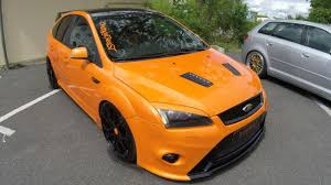 ford focus st aftermarket ford focus st orange colour tuning car beast walkaround