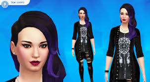 sims 4 blue hair hey i made demi lovato on the sims 4 it has some mods the hair