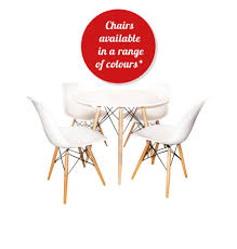 Eiffel 90cm Dining Table And Chair Set Zuca Homeware Chairs