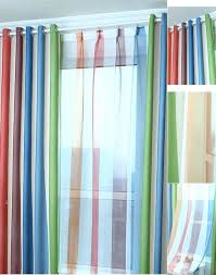 White And Blue Striped Curtains White And Blue Striped Curtains Custom Multi Color Polyester