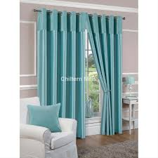 Blue Silk Curtains Faux Silk Lined Duck Egg Blue Eyelet Curtains