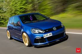 stanced volkswagen golf blue stanced vw golf treated to carbon fiber and other goodies