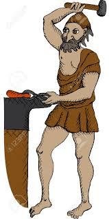 vector illustration of greek god hephaestus royalty free cliparts