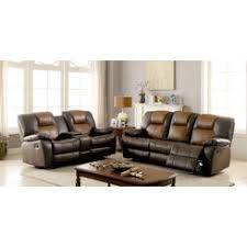 reclining sofa with center console