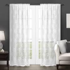Linen Drapery Panels Faux Linen Curtains Wayfair