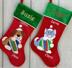 personalized dog christmas stocking embroidered with name for dog
