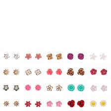 tiny earrings tiny flower stud earrings set s