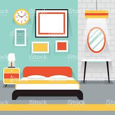 Schlafzimmer Bilderrahmen Möbel Anzeige Im Zimmer Schlafzimmer Mit Vektor Illustration