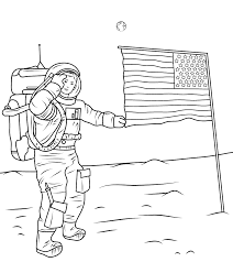 astronaut coloring page american astronaut coloring pages coloringstar