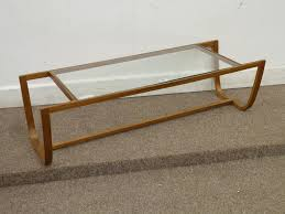 alvar aalto style vintage retro glass top coffee table c 1960s 70s