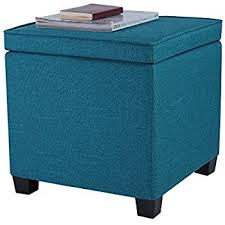 amazon com zulera storage ottoman foldable with square padded
