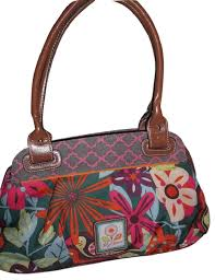 lilly bloom bloom floral satchel multicolor poly shoulder bag tradesy