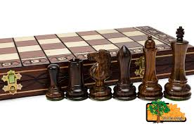 saturn 41cm 16 2in wooden weighted beautiful chess set ebay