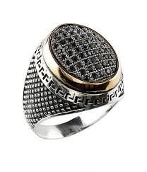 best ring for men turkish ottoman men black gold ring vintage india style