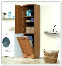 Linen Cabinet Doors Her With Storage Useful Laundry Her Cabinet Her Storage
