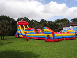 obstacle courses bounce house water slide and party rentals