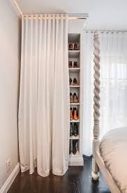fabric closet panels closet transitional with white contemporary