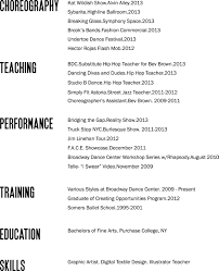 Resume Templates Good Or Bad by Bad Layout But Good Reminder Of What To Put On A Dance Resume