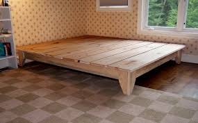 uncategorized building platform bed diy platform bed plans king
