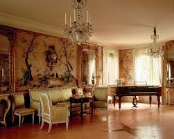 charming french interior with luxury wallpaper idea put french