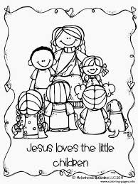 jesus loves the little children coloring pages printable with