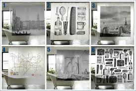 Shower Curtains For Mens Bathroom Stylish City Shower Curtains And More From S Society Fresh