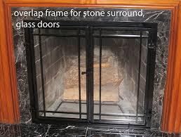 fireplace screen with glass doors perpetua iron fireplace screen anatomy
