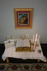 prayer table like the cross candleholder what if this contained