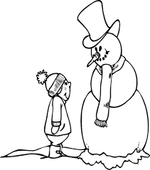 coloring pages for boys boy and snowman coloring pages winter