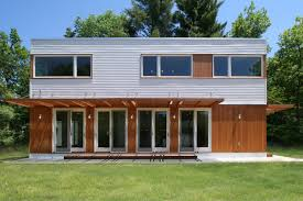modular farmhouse modern modular prefab house maryland cedar white metal siding