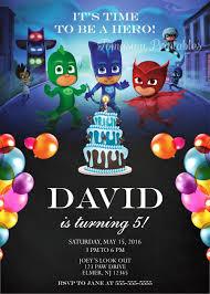pj masks birthday invitation printable digital personalized invite