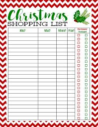 free printable christmas shopping list christmas shopping list
