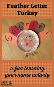 name activities feather letter turkey thanksgiving activities