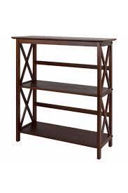 montego style 3 shelf bookcase casual home